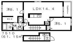 House Eureka(ハウスユーリカ)[206号室号室]の間取り