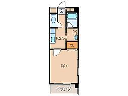 マンション光陽II[3階]の間取り