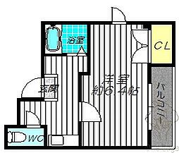 大阪府大阪市北区天神橋3丁目の賃貸マンションの間取り