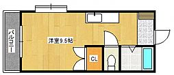 プロスパーヤマシタII[2階]の間取り