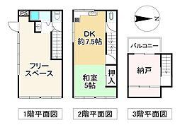 近鉄南大阪線 矢田駅 徒歩10分 1SDKの間取り