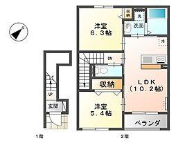 オール電化・新築〜南笠東新築〜[2階]の間取り