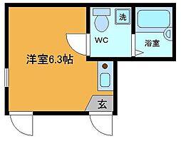 東京都足立区大谷田3の賃貸アパートの間取り