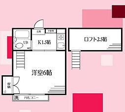 サニーヒルズ南太田[2階]の間取り