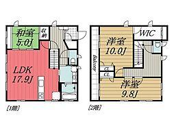 [一戸建] 千葉県成田市はなのき台1丁目 の賃貸【/】の間取り