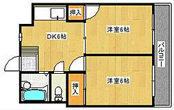 シャトレ松尾[303号室]の間取り