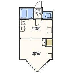 ローヤルハイツ栄通21[1階]の間取り