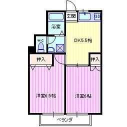 パールガーデンC棟[2階]の間取り