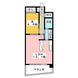 マザー花の木[8階]の間取り