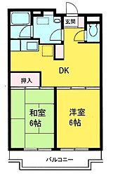 フィネス五井[2階]の間取り