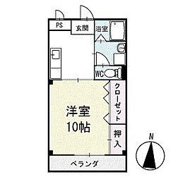 アイランドM 3階[307号室]の間取り