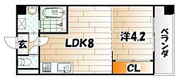 ノースステイツ浅生[9階]の間取り