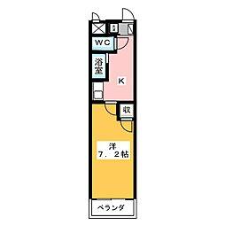 タートルヒルズ岡崎[3階]の間取り
