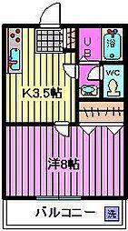 トヤマハイツ[1階]の間取り