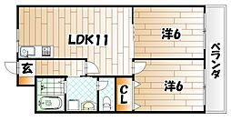 シャルム風[7階]の間取り