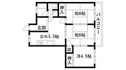 タチバナマンション[3階]の間取り
