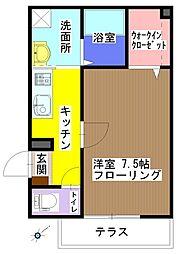 メゾンAki[101号室]の間取り