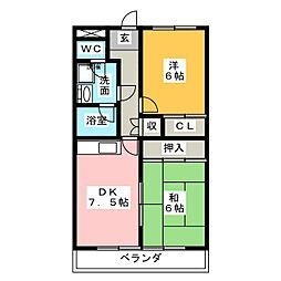 佳千ビルII[6階]の間取り