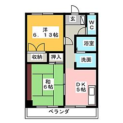 第一エステート富士[1階]の間取り