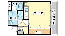 シャトー三和南車崎[203号室]の間取り