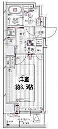 東京メトロ半蔵門線 水天宮前駅 徒歩13分の賃貸マンション 2階1Kの間取り