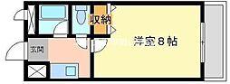 岡山県岡山市北区西長瀬の賃貸マンションの間取り