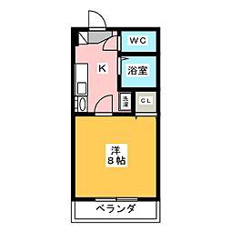 ビダフェリス加藤[2階]の間取り