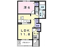 JR姫新線 余部駅 徒歩17分の賃貸アパート 1階1LDKの間取り