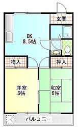 ハイツ永井B[206号室]の間取り