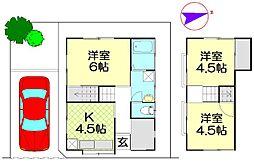 [一戸建] 埼玉県春日部市南3丁目 の賃貸【/】の間取り