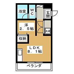 Park Side Mibu1[3階]の間取り