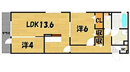 D-room赤井二丁目[1階]の間取り