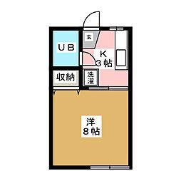 レイクフィールドIII[1階]の間取り