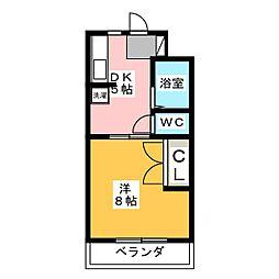 サンルート第一マンション[4階]の間取り
