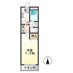 ノーブルメゾン[1階]の間取り