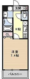 ベラジオ京都壬生WEST GATE[507号室号室]の間取り