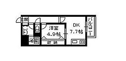 メゾンツジヤマ[2階]の間取り
