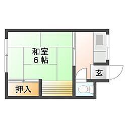 長谷川荘[102号室]の間取り