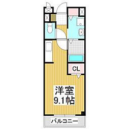 長野県松本市沢村3丁目の賃貸アパートの間取り