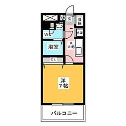 スカイコート福岡県庁前[12階]の間取り