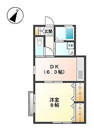 ホリタハイツ[2階]の間取り