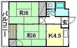 松栄荘[8 号室号室]の間取り