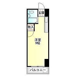永井コーポ[202号室]の間取り
