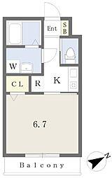 船尾駅 徒歩8分2階Fの間取り画像