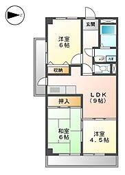 スイ−トプラザ白壁[3階]の間取り