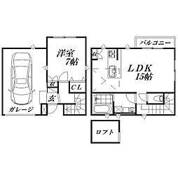 [テラスハウス] 静岡県浜松市中区富塚町 の賃貸【/】の間取り