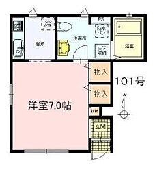 東京都八王子市新町の賃貸アパートの間取り