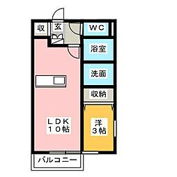 ADESSO F棟[1階]の間取り
