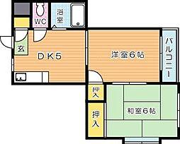 シャトレ熊西[1階]の間取り