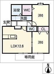 クレアール名東[1階]の間取り